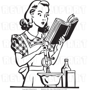 cooking-clipart-black-and-whiteroyalty-free-black-and-white-retro-vector-clip-art-of-a-housewife-zvb6ziwl